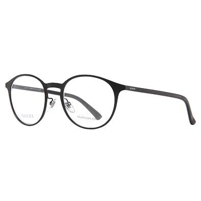 Amazon.com: Gucci Men\'s Eyewear Frames GG2264 51mm Matte Shiny Black ...