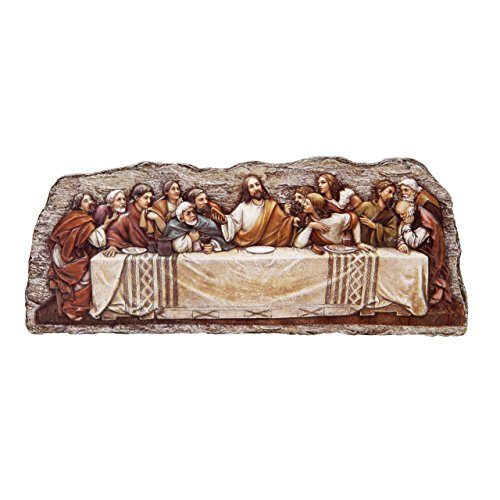 Joseph's Studio by Roman Last Supper Wall Plaque from The Renaissance Collection Features Jesus, 12.25-Inch