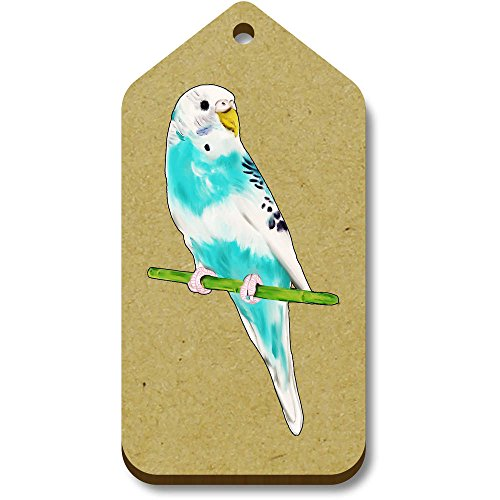 34mm Blue' regalo 'Budgie 10 bagaglio Tag X 66mm tg00074107 4a14qRw