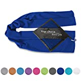 Your Choice Cooling Towel - Cooling Neck Wrap Scarfs - Cool Neck Bandanas Ice Cold Towel for Gym Golf Bowling Workout Backpacking and Hiking Instant Cooling Relief, Navy Blue 12 x 40 Inch