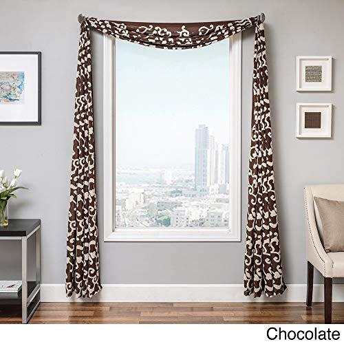 Softline Solomon 6-Yard Window Scarf Chocolate