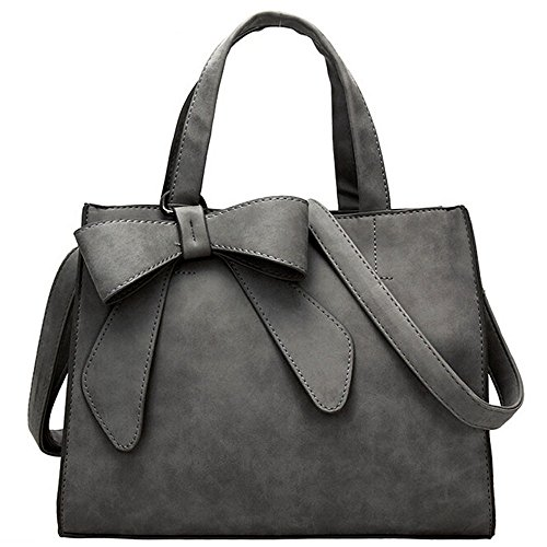 Con Shopper Borsetta PU Per Eleganti Spalla Casual Tote Unita A Farfalla Nodo Mambain Bag In Mano Tinta Borse Moda Donna Grandi Pelle Borse Della Borsa C T8OZg8