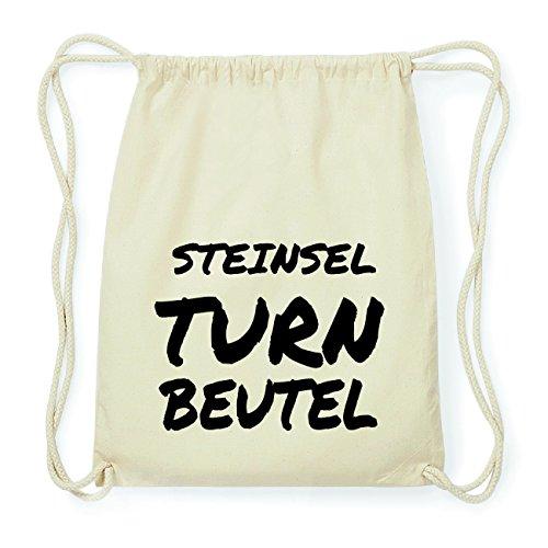 JOllify STEINSEL Hipster Turnbeutel Tasche Rucksack aus Baumwolle - Farbe: natur Design: Turnbeutel