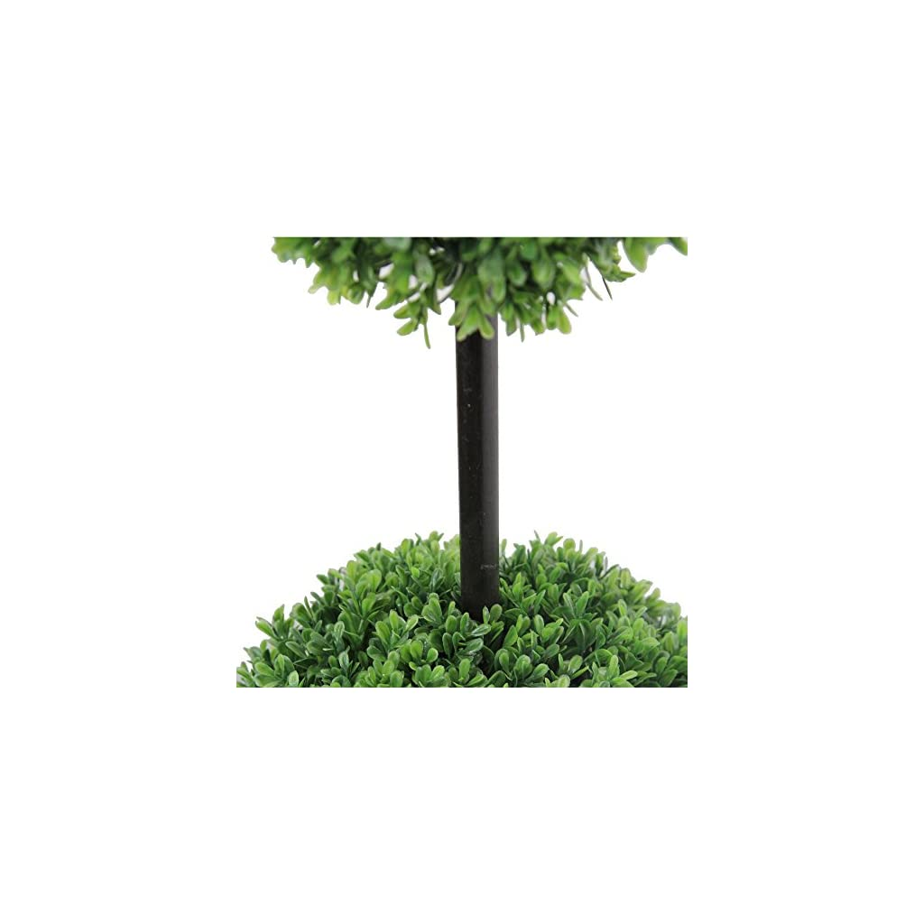 Admired-by-Nature-Artificial-Boxwood-Triple-Ball-Shaped-Topiary-Plant-Tree-in-Plastic-Pot