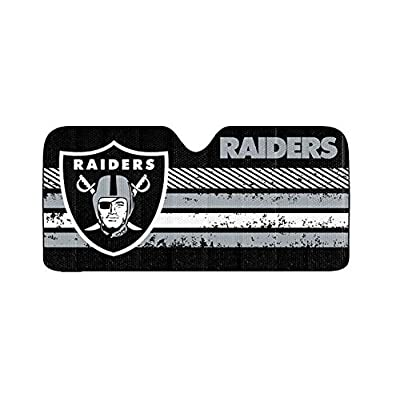 "Infinity Stock NFL Auto Sun Shade Universal Size Fit 58"" x 27"" - Windshield Car Truck SUV Sunshade - Interior Accessories (Oakland Raiders): Automotive"