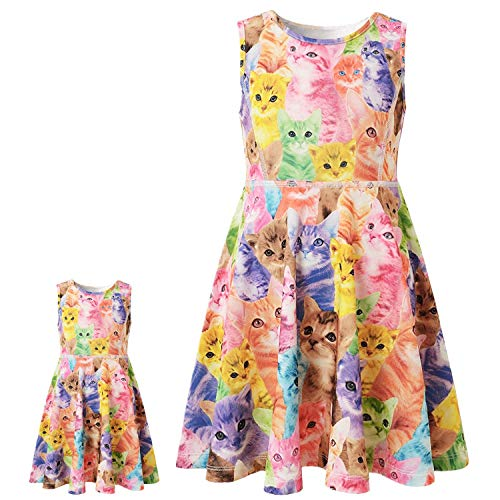 Cat Dresses for 18 inch Dolls American Girl Clothes and Accessories Set