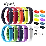 riyueming Compatible for Fitbit Flex Wristband,Replacement Accessory with Metal Clasp for Fitbit Flex Bracelet Sport Arm Band No Tracker