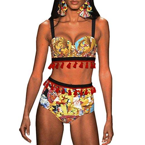 piscina bagno beachwear mare da sportivo Bikini africano bagno da push Sexy Stampare mare nappa 2PCS donna Costumi intero Bikini up Giallo Swimwear tezenis Costume 7qwS16RxU