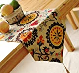 ON SALE! Reversible Cotton/Linen Blend Table Runners, Boho Pattern, From Top Drawer (12