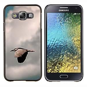 Qstar Arte & diseño plástico duro Fundas Cover Cubre Hard Case Cover para Samsung Galaxy E5 E500 (Pájaro rápida)