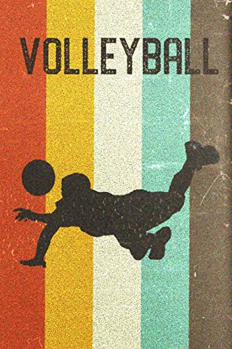 Volleyball Journal: Cool Male Volleyball Player Silhouette Image Retro 70s 80s Vintage Theme 108-page Journal/Notebook/Training Log To Write In For Players Coaches Trainers Students por Clementine Arches Books