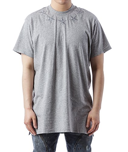 Wiberlux Givenchy Men's Embroidered Star Detail Loose Fit T-Shirt L - Givenchy Men Sale