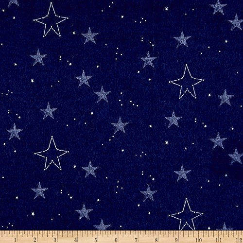 el Sarah Jane Magic Lucky Stars Navy Fabric By The Yard (Michael Miller Flannel Fabric)