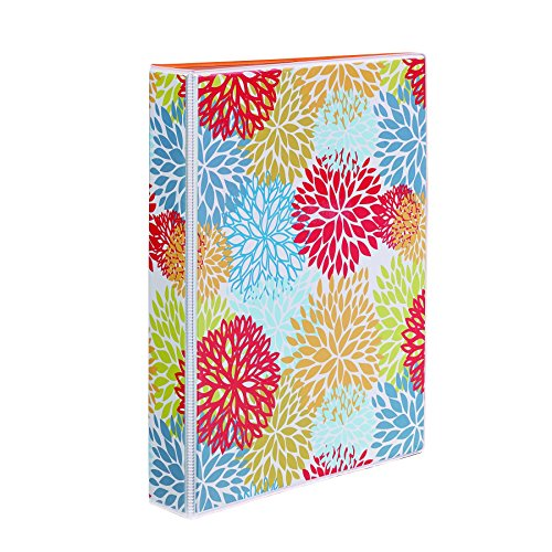 Avery 5-1/2 x 8-1/2 Inches Mini Durable Style Binder with 1-Inch Round Rings, Bright Floral