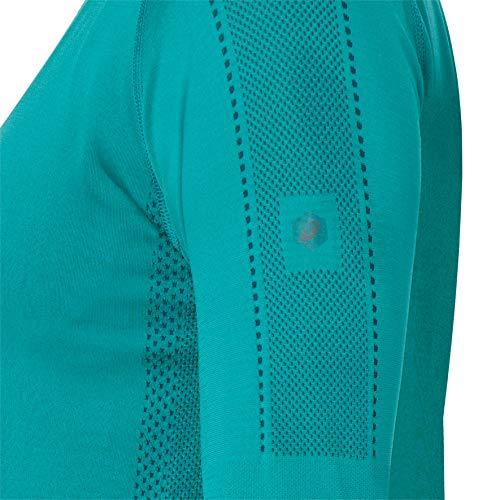Asics Turquoise Bleu Sport Ls Femme Top Seamless De vwSPx7fq