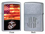 Personalized Marines Sunset Soldier Zippo Lighter with Free Monogram