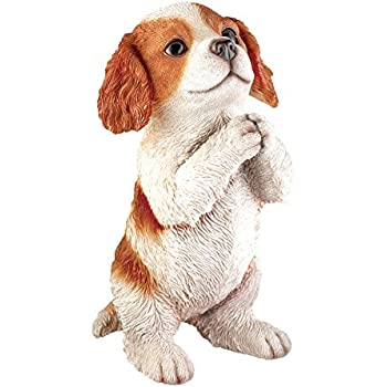 Collections Etc Realistic Pet Praying Figurine, Hand-Painted Statue Indoor or Outdoor Decoration, King Charles
