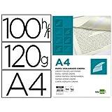 Liderpapel VJ03 - Pack de 100 hojas de papel verjurado, A4, 120 g