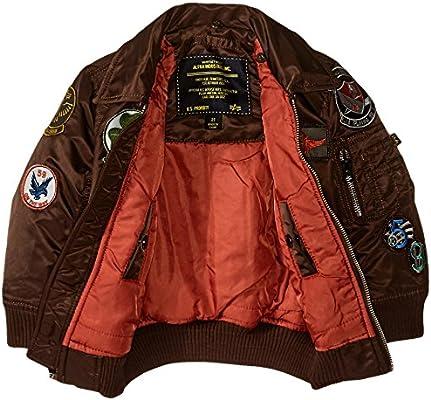 955a69e4b Alpha Industries Little Boys' Maverick Flight Jacket, Cocoa, XX ...
