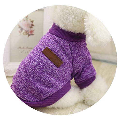 Classic Warm Pet Clothes Soft Pet Dog Sweater Clothing for Dog Clothes Pet Outfit,Red,XL]()