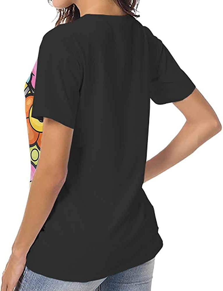 Mangooly Numbers Summer T Shirt Numeral Composition Graphic Short Sleeve Tee Shirt
