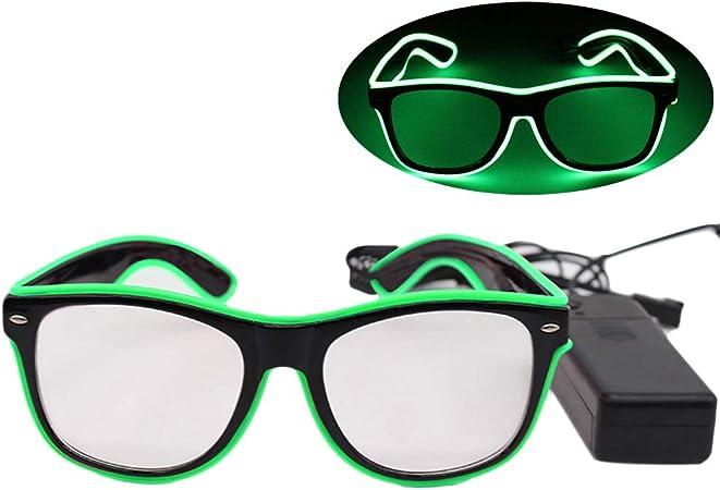 DE EL LED Party Brille Sonnenbrille verschiedene Farben leuchten # grün