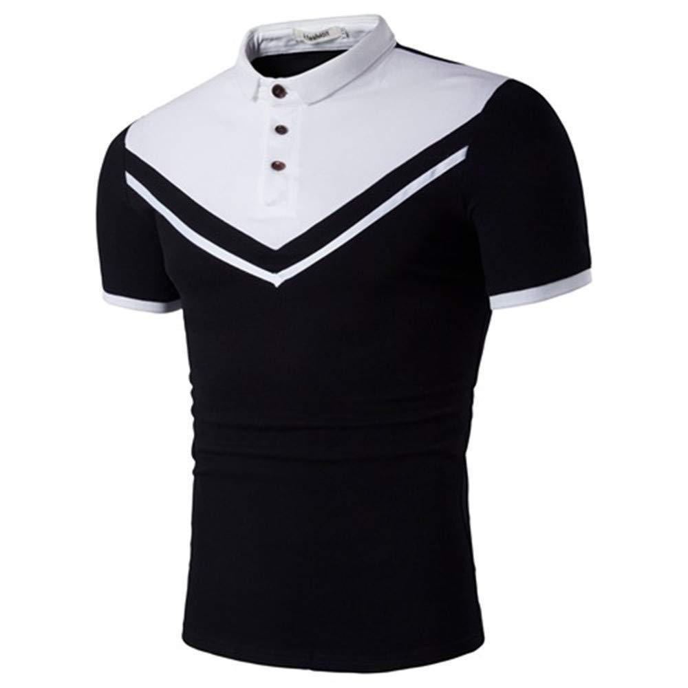 Newstarshop Men Polo Shirt Men Business Casual Male Polo Shirt Short Sleeve Polo Shirt