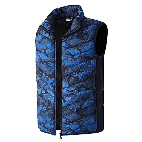 Heated Vest Adjustable Rechargeable USB Battery Heating Jacket Clothing Electric Winter Warm Vest Thermal Waistcoat for Back Pain Outdoor Hunting Camping Hiking Motorcycle (No Battery)