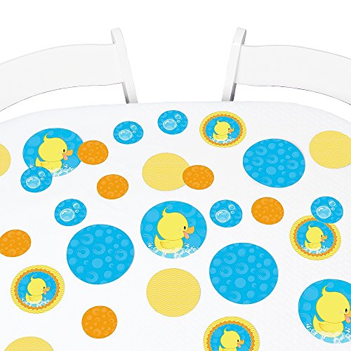 Big Dot of Happiness Ducky Duck - Baby Shower or Birthday Party Giant Circle Confetti - Party Decorations - Large Confetti 27 Count … -