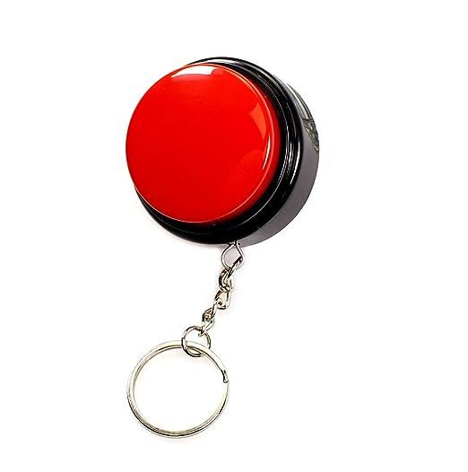 Amazon.com: M7 Record Talking botón con llavero: Toys & Games