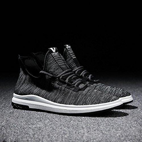Elevin (tm) 2018mens Mode Sportskor Våren Andas Spets-up Sneakers Svart