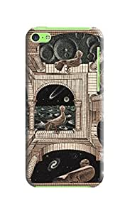 LarryToliver iphone Case, Escher Background image The pattern (iphone 5c) #1