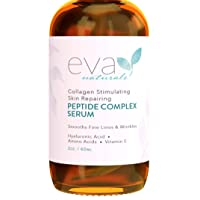 Peptide Complex Serum by Eva Naturals (2 oz) - Best Anti-Aging Face Serum Reduces...