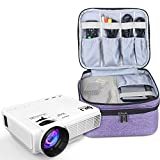 Luxja Carrying Bag for DR.J Mini Projector, Portable Case for DR.J Projector and Accessories, Purple