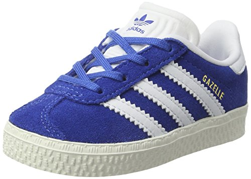 adidas Gazelle, Zapatillas Unisex Niños Azul (Blue/ftwr White/gold Metallic)