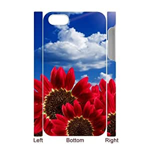 Iphone 4,4S 3D Custom Phone Back Case with sunflower Image