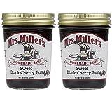 Mrs Millers Homemade Sweet Black Cherry Jam 2 ~ 9 Ounce Jars