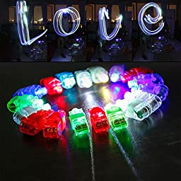 Etekcity Finger Lights Bright LED Party Favors Supplies Light up Toys Assorted Color 100 Pack