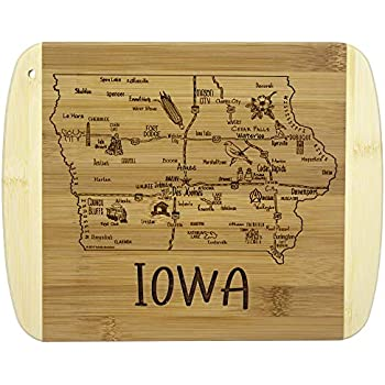 Totally Bamboo A Slice of Life Iowa Bamboo Serving and Cutting Board
