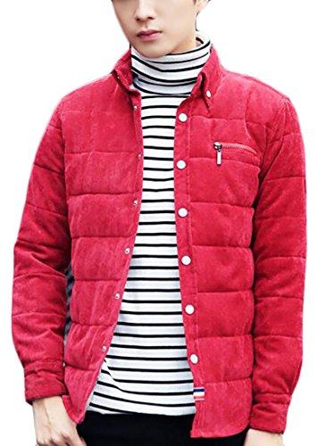 Men Corduroy Ridge Down Red today UK Puffer Canyon Shirt Coats BqaR5