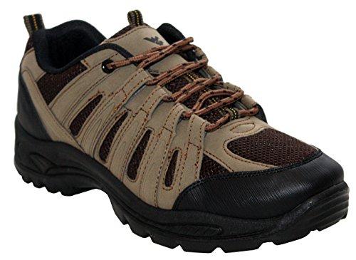 A&H Footwear - Botines de Senderismo hombre marrón y negro