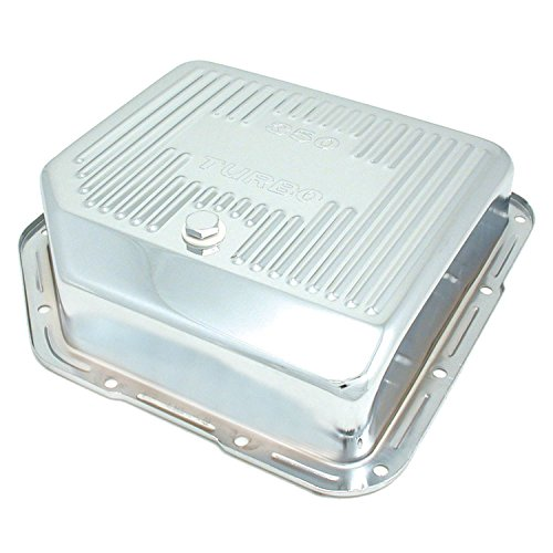 Spectre Performance 5458 Chrome Extra Capacity Transmission Pan for Turbo 350 Engines