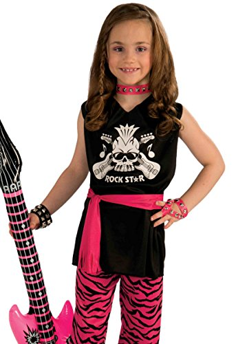 Rock Star Girl Child Costume, Medium