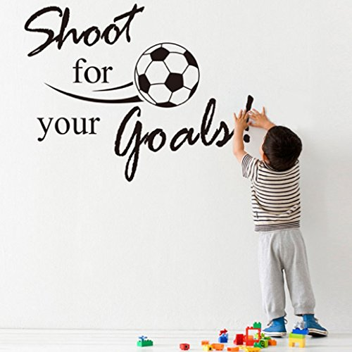 Soccer Ball Wall Stickers (Binmer(TM)New Shoot For Your Goals Football Soccer Removable Decal Wall Sticker Home Decor)