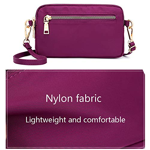 Women Wristlet Crossbody Clutch Phone Nylon Purse Grey Small Wallet Bag Multi Pockets rWHrF