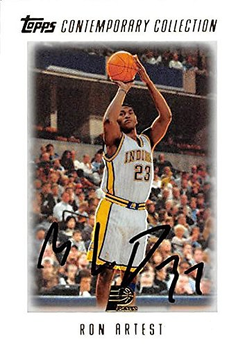 Amazon.com  Ron Artest autographed Basketball Card (Indiana Pacers) 2004  Topps Comtemporary Collection  51 - Unsigned Basketball Cards  Sports  Collectibles 6e337f4c7