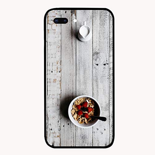 Breakfast Cereals Berries Milk Table Printed iPhone 7/8 Plus Cover Anti-Fingerprint Hard PC Compatible for iPhone 7/8 Plus Case -