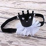 Clothing Accessories Best Deals - Susenstone Girl Head Accessories Hairband Baby Hair Band Elastic Flower Crown Headwear (Hot Pink) (Black)