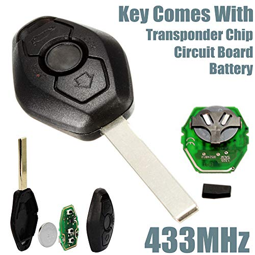 Clearance , Remote Key Fob 433Hz Replacement Uncut Blade for BMW E46 E39 3 5 7 Z3 M3 -