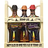 Whoop Ass Hot Sauce Gift Set - In a Wooden Crate! All three Hot Sauce Cowboys are packed into the local saloon and theyre packin heat.